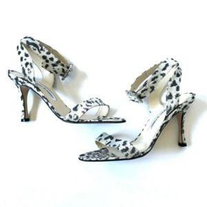 Manolo Blahnik Leopard Heels Sandals 37 7 MINT